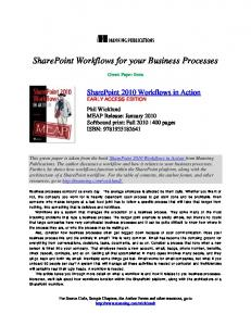 SharePoint Workflows for your Business Processes