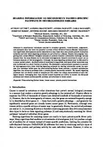 SHARING INFORMATION TO RECONSTRUCT PATIENT-SPECIFIC PATHWAYS IN HETEROGENEOUS DISEASES