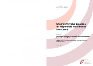 Sharing innovative practices for responsible microfinance investment