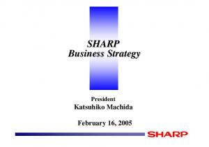 SHARP Business Strategy