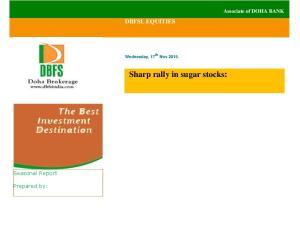 Sharp rally in sugar stocks: