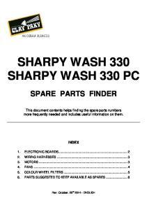SHARPY WASH 330 SHARPY WASH 330 PC