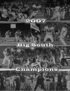 Shattering Records. On the Way to a Big South Championship