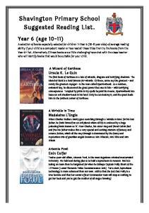 Shavington Primary School Suggested Reading List