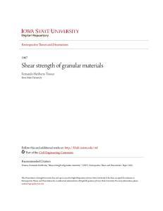 Shear strength of granular materials