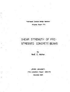 SHEAR STRENGTH OF PRE~