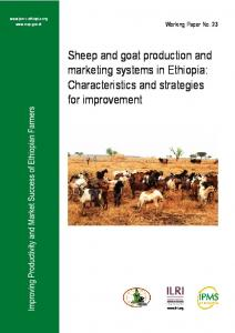 Sheep and goat production and marketing systems in Ethiopia: Characteristics and strategies for improvement