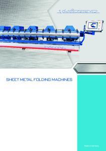 Sheet Metal Folding Machines