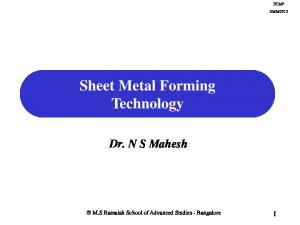 Sheet Metal Forming Technology