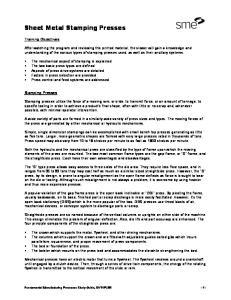Sheet Metal Stamping Presses