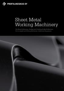 Sheet Metal Working Machinery