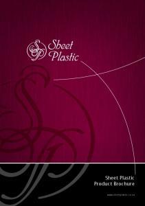 Sheet Plastic Product Brochure