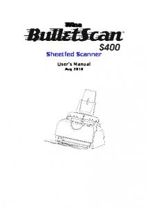 Sheetfed Scanner User s Manual Aug 2010
