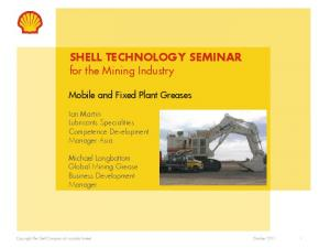 SHELL TECHNOLOGY SEMINAR for the Mining Industry