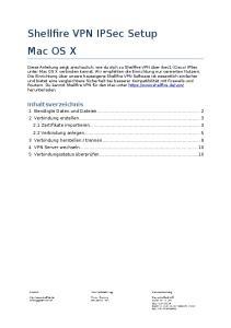 Shellfire VPN IPSec Setup Mac OS X