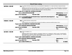 Sheriff Sale Listing