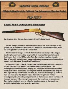 Sheriff Tom Cunningham s Winchester
