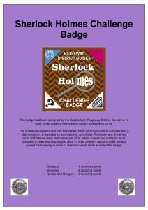 Sherlock Holmes Challenge Badge