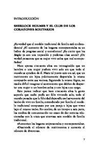 SHERLOCK HOLMES Y EL CLUB DE LOS CORAZONES SOLITARIOS