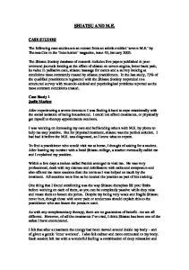 SHIATSU AND M.E. CASE STUDIES