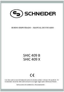 SHIC 409 B SHIC 409 X