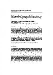 Shifting paths of pharmaceutical innovation: Implications for the global pharmaceutical industry