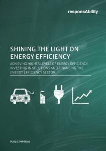 SHINING THE LIGHT ON ENERGY EFFICIENCY