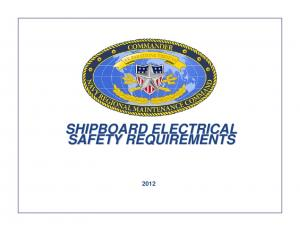 SHIPBOARD ELECTRICAL SAFETY REQUIREMENTS