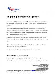 Shipping dangerous goods