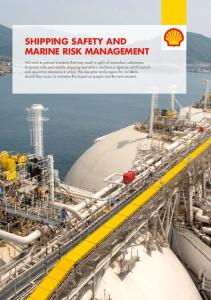 Shipping Safety and Marine Risk Management. Shipping safety and