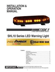 SHL10 Series LED Warning Light