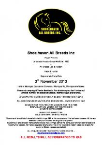 Shoalhaven All Breeds Inc