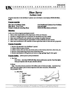 Shoe Savvy Facilitator Guide