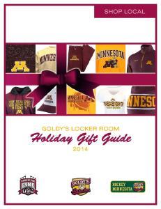 Shop local. Holiday Gift Guide 2014 HOCKEY MINNESOTA