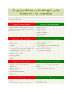 Shopping Guide to Avoiding Organic Foods with Carrageenan