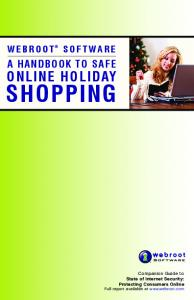 SHOPPING ONLINE HOLIDAY A HANDBOOK TO SAFE WEBROOT SOFTWARE