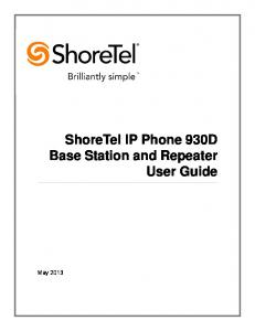 ShoreTel IP Phone 930D Base Station and Repeater User Guide