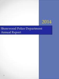 Shorewood Police Department Annual Report
