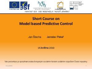 Short Course on Model based Predictive Control