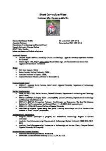 Short Curriculum Vitae Helene Martinsson-Wallin