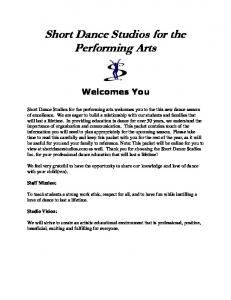 Short Dance Studios for the Performing Arts
