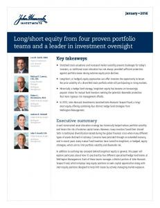 short equity from four proven portfolio teams and a leader in investment oversight