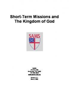 Short-Term Missions and The Kingdom of God