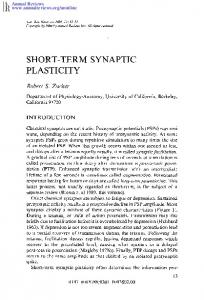 SHORT-TERM SYNAPTIC PLASTICITY