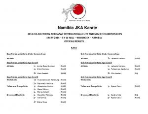 Shotokan Karate at its Best. Namibia JKA Karate