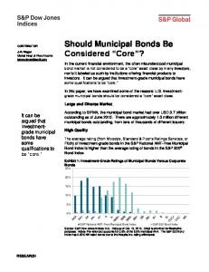 Should Municipal Bonds Be Considered Core?