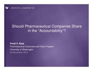 Should Pharmaceutical Companies Share in the Accountability?