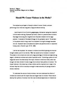 Should We Censor Violence in the Media?