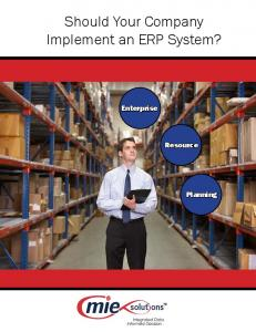 Should Your Company Implement an ERP System?