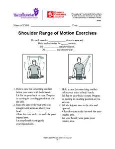 Shoulder Range of Motion Exercises